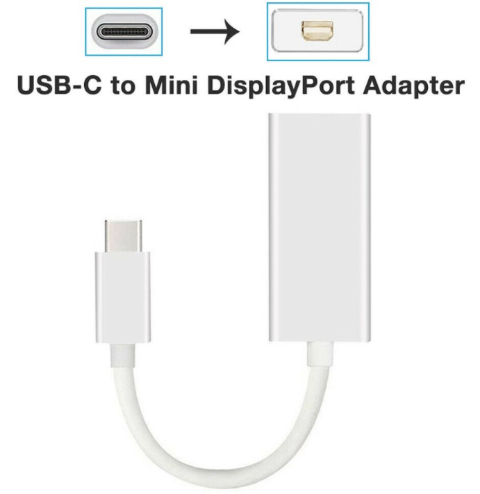 Thunderbolt 3 USB-C to Mini DisplayPort Converter 4K@60HZ Type-C Mini DP Adapter